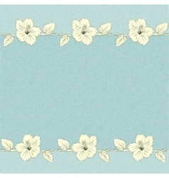 template with hibiscus flowers vector image vector image