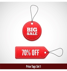3D Price tags set one vector image vector image