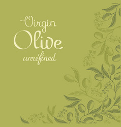 abstract natural green vintage background vector image