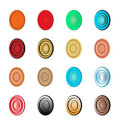 Abstract target and egg logo set vector