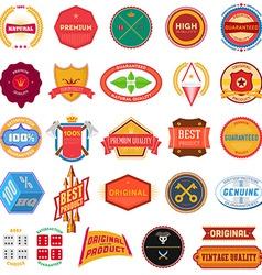 Big set of flat colored vintage labels vector image vector image