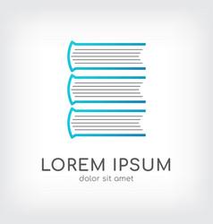books layer logo design template vector image