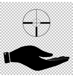 Icon on hand vector image vector image