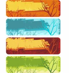 nature banner set vector image vector image