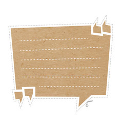 quote bubble on cardboard vector image vector image