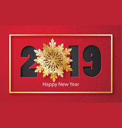 2019 happy new year or merry christmas vector