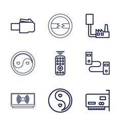 9 universal icons vector