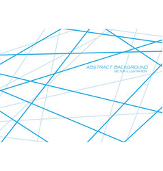 abstract blue line tone cross overlap on white vector image