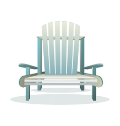 Adirondack wooden chair front vector image