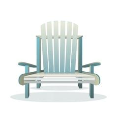 Adirondack wooden chair front vector