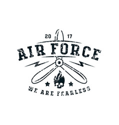 Air force emblem in thin line style vector