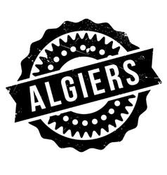 Algiers stamp rubber grunge vector image