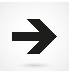 Arrowhead right icon black vector