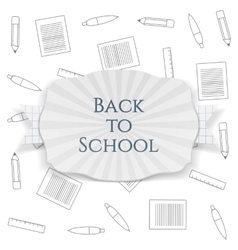 Back to School curved paper Badge vector