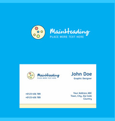 Bacteria plate logo design with business card vector