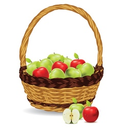 Basket of Red and Green Apples3 vector