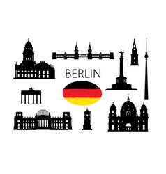 berlin famous tourist places capital vector image