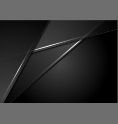black abstract corporate background with neon vector image