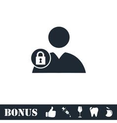 Block user icon flat vector image