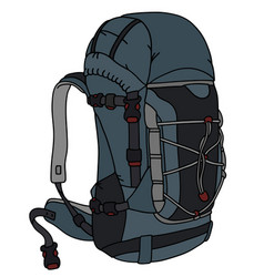 Blue and gray backpack vector