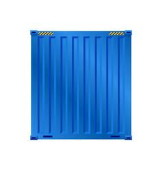 Blue cargo container vector