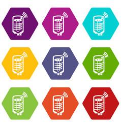 Boiler icons set 9 vector