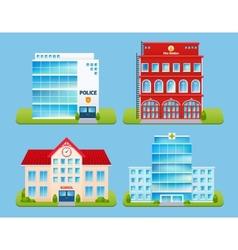 Buildings Emblems Set vector image