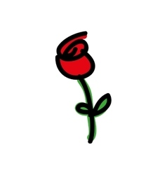 cartoon rose icon image vector image