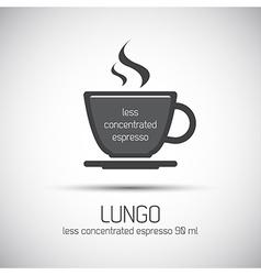 Cup of espresso lungo simple icon vector
