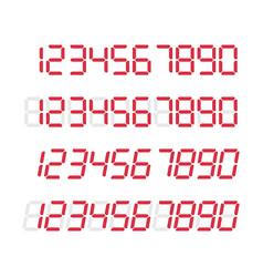 digital glowing numbers vector image