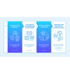 digital inclusion components onboarding template vector image