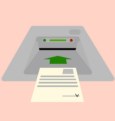 electronic ballot box for receiving candidate vector image