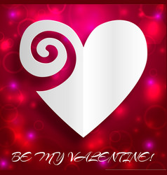 Elegant valentines day poster vector