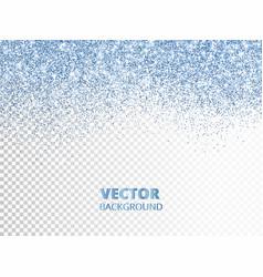 Falling glitter confetti blue dust vector