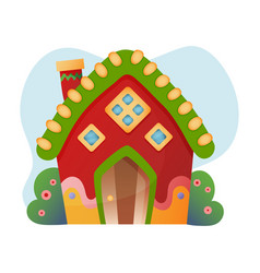 Fantasy house cartoon fairy treehouse vector