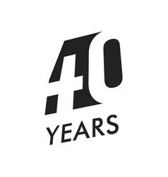 forty years emblem template anniversary vector image