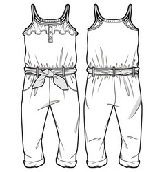 Front and back sides an overall vector