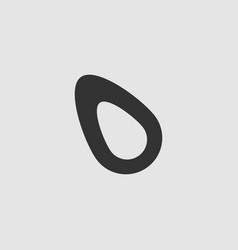 Fruits avocado icon flat vector