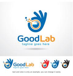 Good lab logo template vector