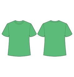 Green t shirt vector