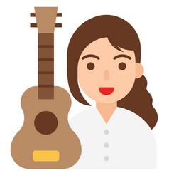 guitarist icon profession and job vector image