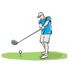 Hand Drawn Golfer vector