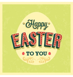 Happy Easter typographic design vector image