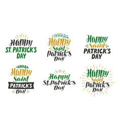 happy saint patricks day greeting card beer vector image