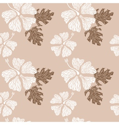hibiscus pattern nude vector image