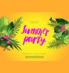 Hot summer poster vector