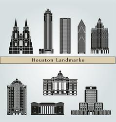 Houston landmarks vector