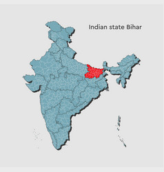 India country map bihar state template concept vector