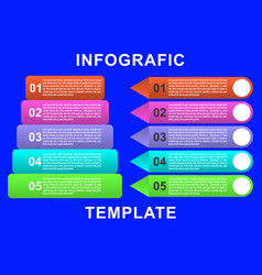 infographic template with paper label vector image