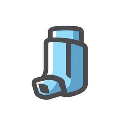 Inhaler inhalation device icon cartoon vector